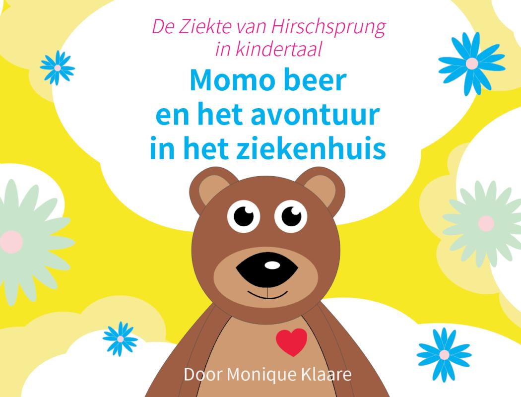 Voorkant boek Momo beer en het avontuur in het ziekenhuis Monique Klaare