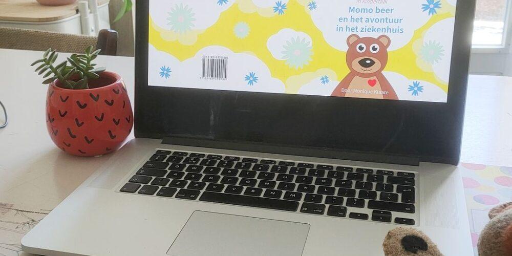 Voorkant Eerste boek herdruk Momo beer Monique Klaare